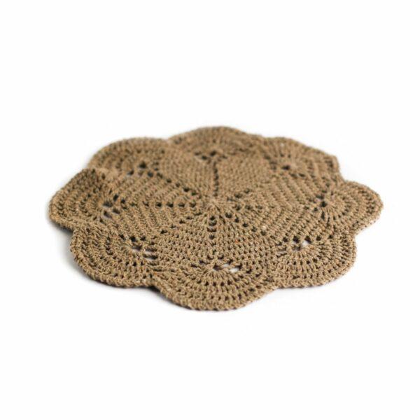 Layer crochet Marrom
