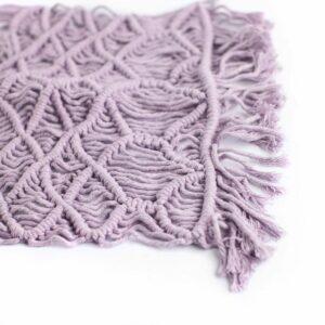 Layer macramê retangular Lilás