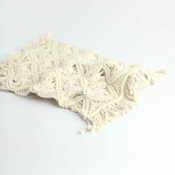Layer macramê retangular - Modelo II Off white