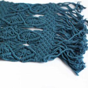 Layer macramê retangular - Modelo III Azul