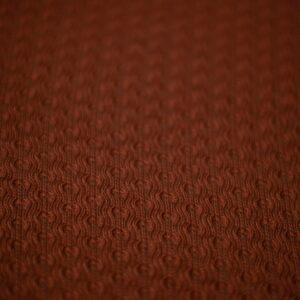 Manta de lã texturizada para puff (dupla face) Terracota