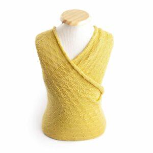 Wrap texturizado de lã Amarelo