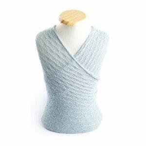 Wrap texturizado de lã Azul