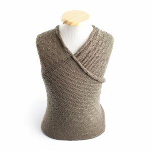 Wrap texturizado de lã Marrom