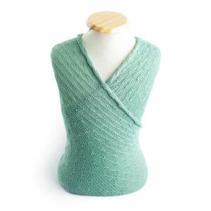 Wrap texturizado de lã Mint
