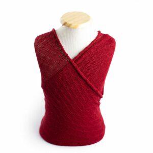 Wrap texturizado de lã Vermelho