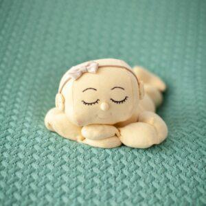 Manta de lã texturizada para puff Trançada Mint