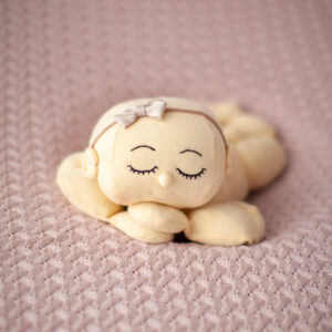 Manta de lã texturizada para puff Trançada Rosa