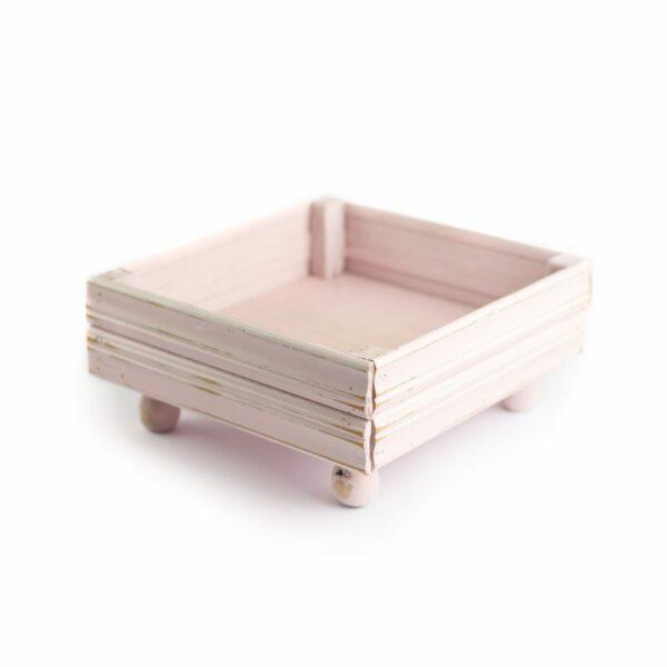Prop baixo  /  apoio para cenário madeira quadrado Cor 08 - Rosa clarinho