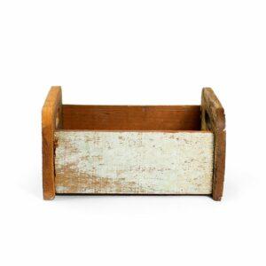 Bercinho de madeira de demolição Baixo - Modelo V Nude