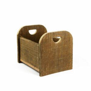 Bercinho de madeira de demolição Mini - Modelo III Natural