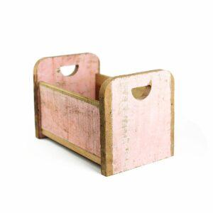 Bercinho de madeira de demolição Alto - Modelo I Rosa