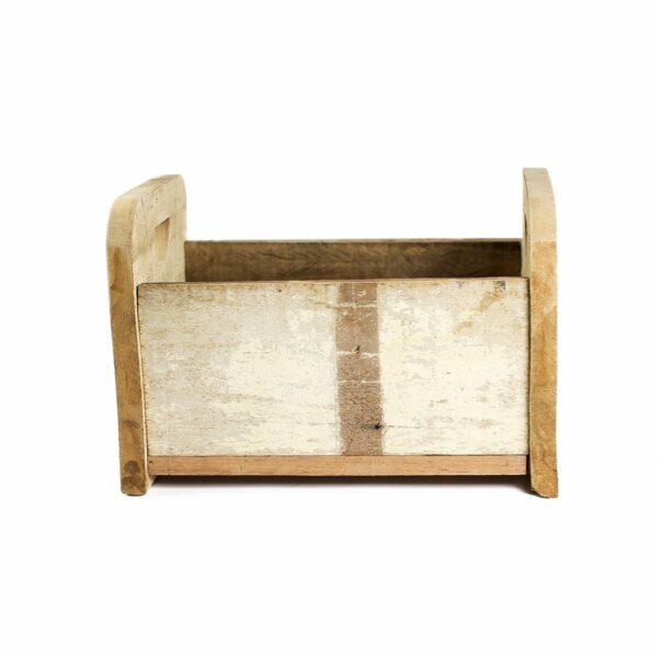 Bercinho de madeira de demolição Alto - Modelo III Branco