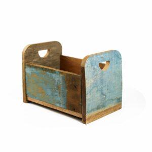 Bercinho de madeira de demolição Alto - Modelo IV Azul