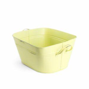 Tina lisa com alça de aluminio Cor 03 - Amarelo claro