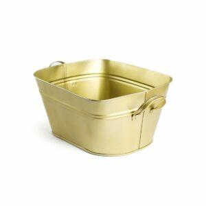 Tina lisa com alça de aluminio Cor 50 - Dourado
