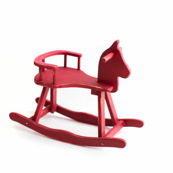 Cavalinho de madeira Cor 18 - Vermelho bordô