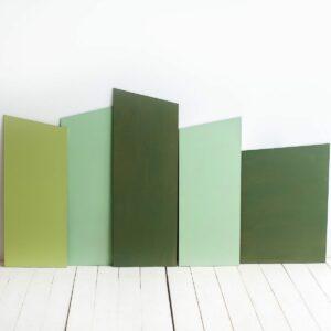 Conjunto de painéis Verde