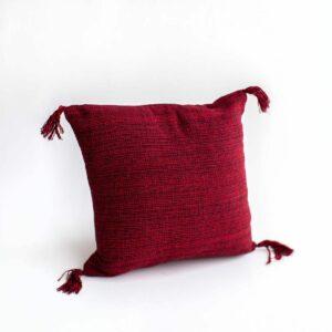 Almofada com enchimento quadrada - Modelo I Vermelha