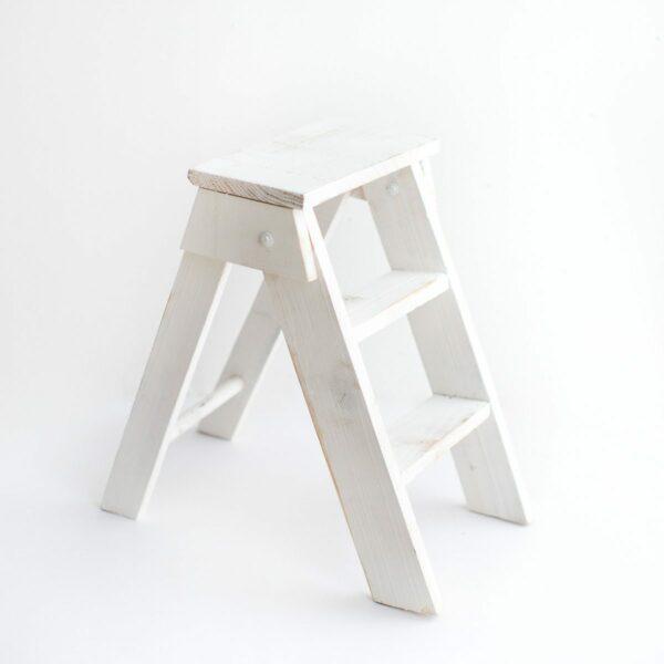 Escadinha de madeira Cor 07 - Off white