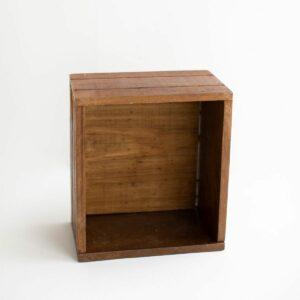 Caixote de madeira maciça Natural