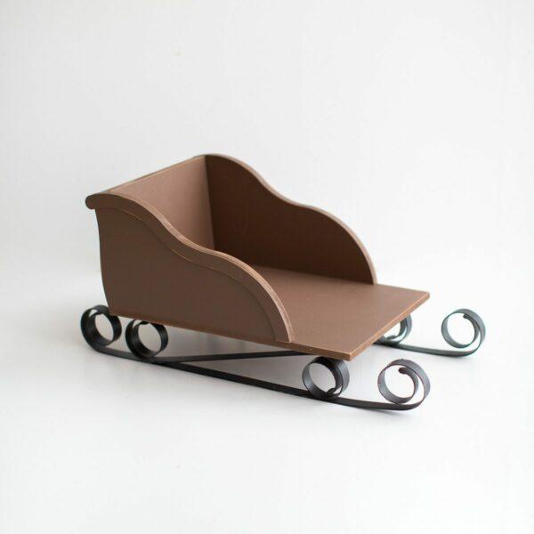 Mini trenó de natal Cor 10 - Marrom