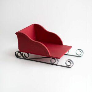 Mini trenó de natal Cor 18 - Vermelho bordô