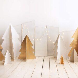 Cenário árvores 3D Dourado